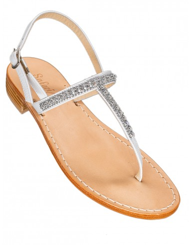 Classic thongs style with rhinestones