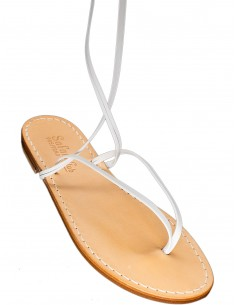 positano handmade sandals long laces