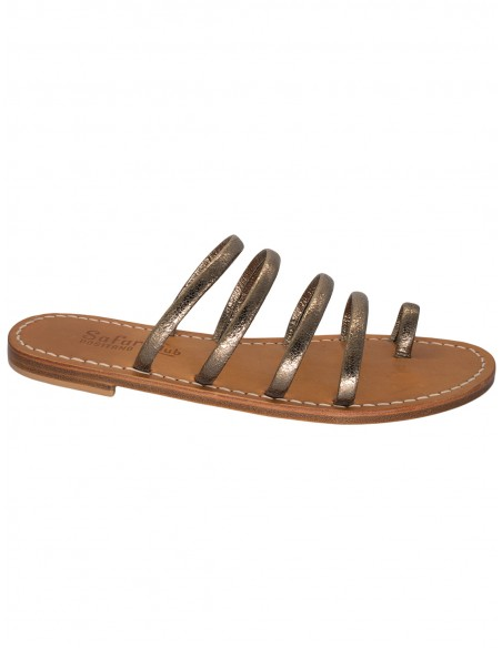 capri sandals simple leather