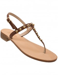 positano sandals with backstrip with studs