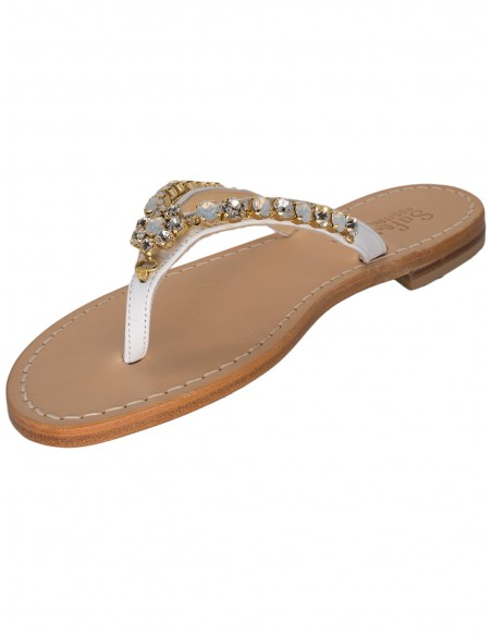 handmade capri sandals with jewels