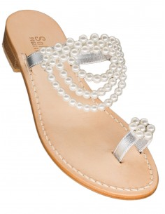positano sandals pearls