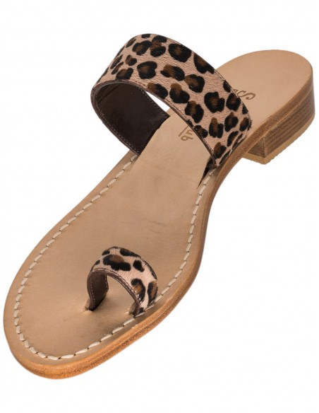 capri sandals leopard cheetah