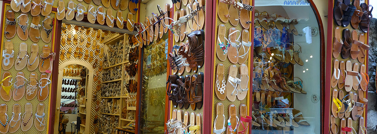 Our handmade sandals in Positano
